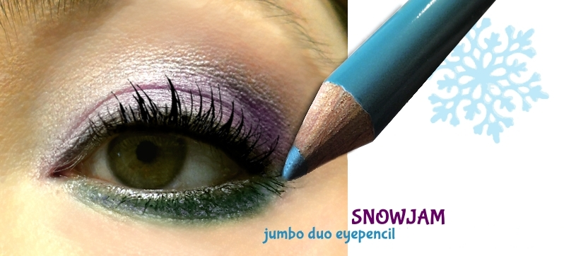 Look mit dem türkis Kajal aus der essence SnowJam trend edition