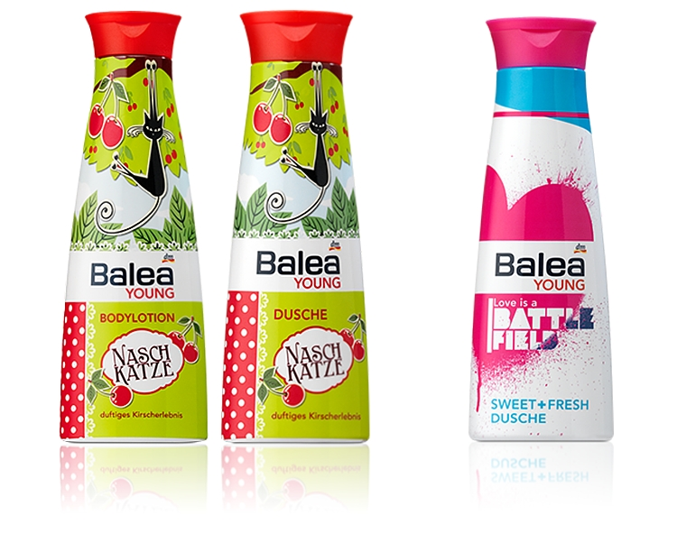 balea young dusche bodylotion naschkatze love is a battlefield