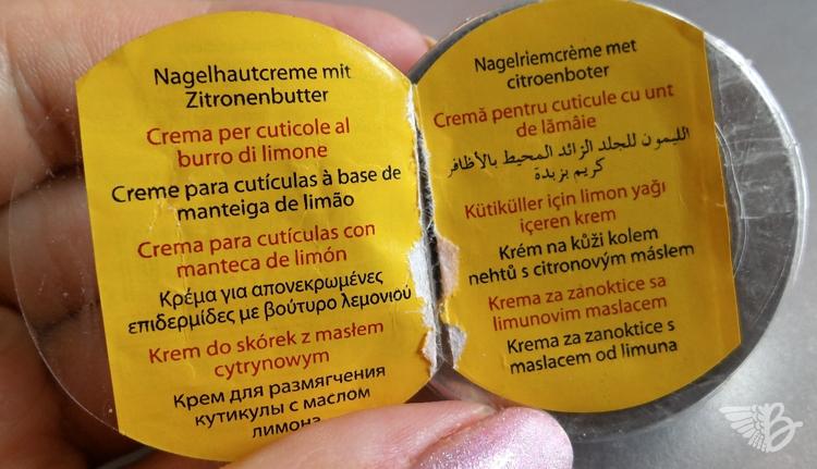 Nagelhautcreme mit Zitronenbutter