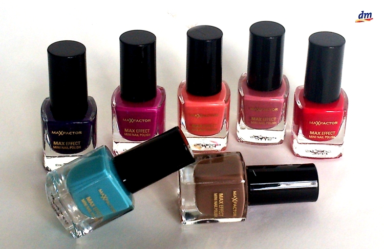 Max Factor Max Effect Mini Nail Polishes