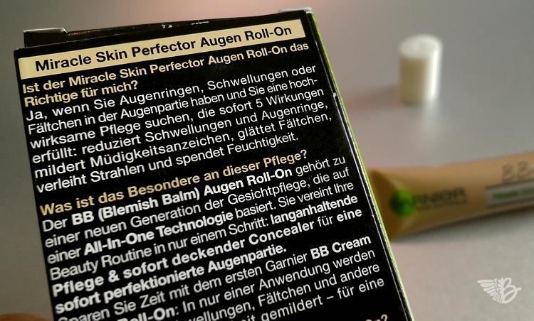 GARNIER Mircale Skin BB Cream - Blemish Balm Augen Roll On
