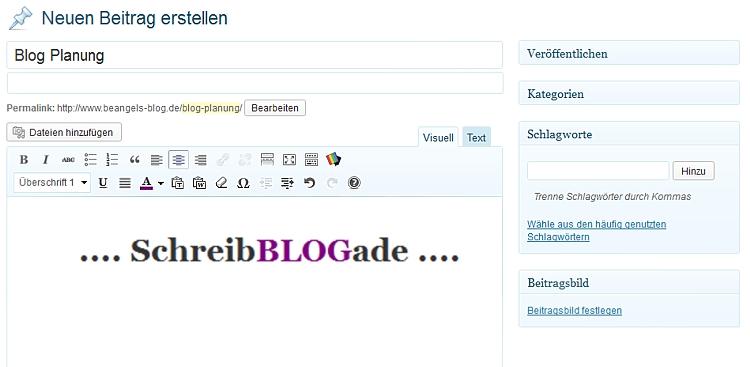 Blogalltag