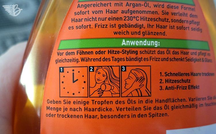 Garnier Fructis Wunderöl - Hitzeschutz und Pflege