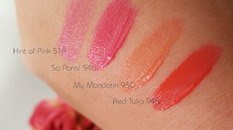 Manhattan Colour Splash Liquid Lip Tints