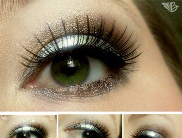 metall eyeliner silber lidaufkleber