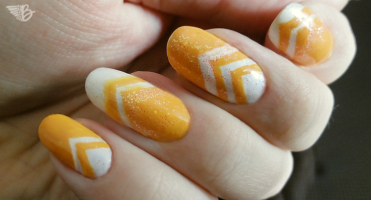 Creamy Orange Icecream NailArt