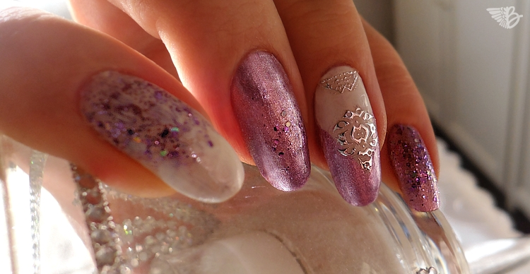 Nail Art Sticker Silver Lace