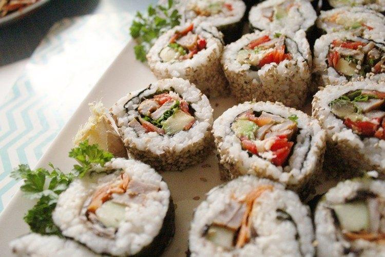 Sushi mit Fleisch