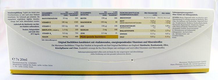Murnauers Bachblüten 7-Tage-Kur Vitalität