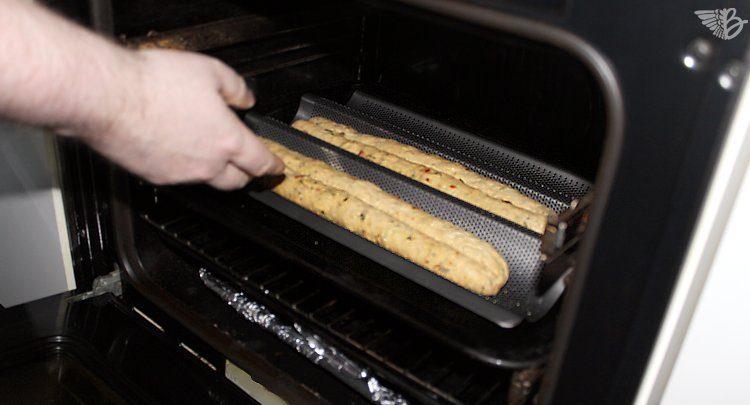 brot backen baguetteblech