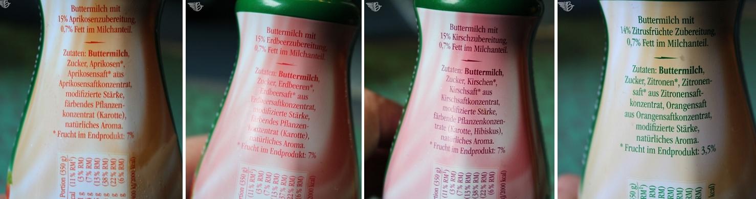 Inhaltsstoffe Landliebe Buttermilch