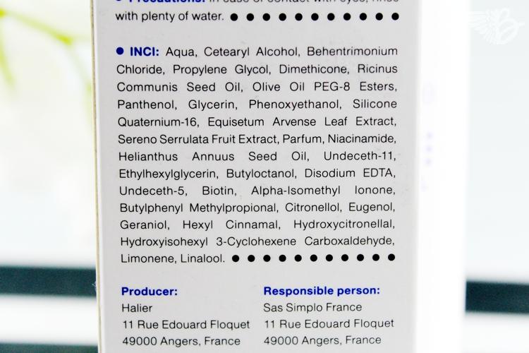 Inhaltsstoffe Halier fortesse conditioner