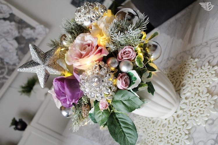 Weihnachtsdeko aus Brautschmuck