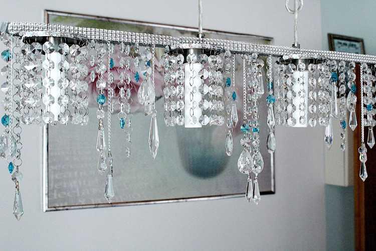 kristallleuchter-küche