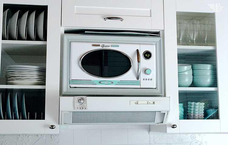 mikrowellen-einfassung küche