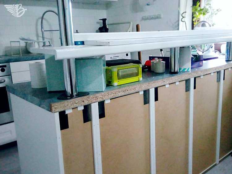 selbstgebaute küchentheke