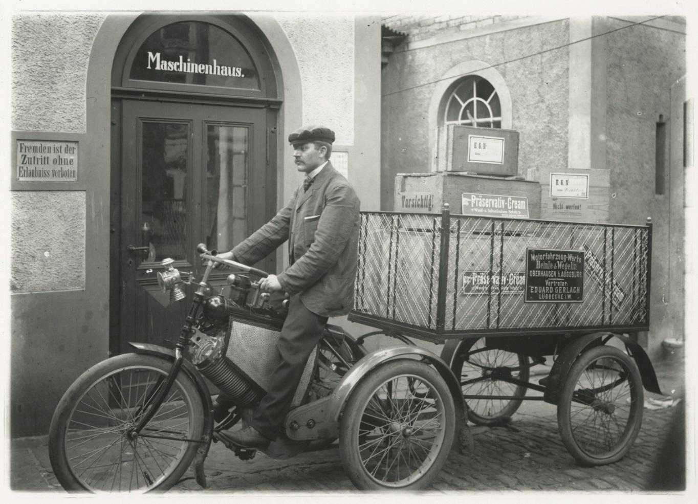 Auslieferung von E. GERLACH'S PRAESERVATIV-CREAM