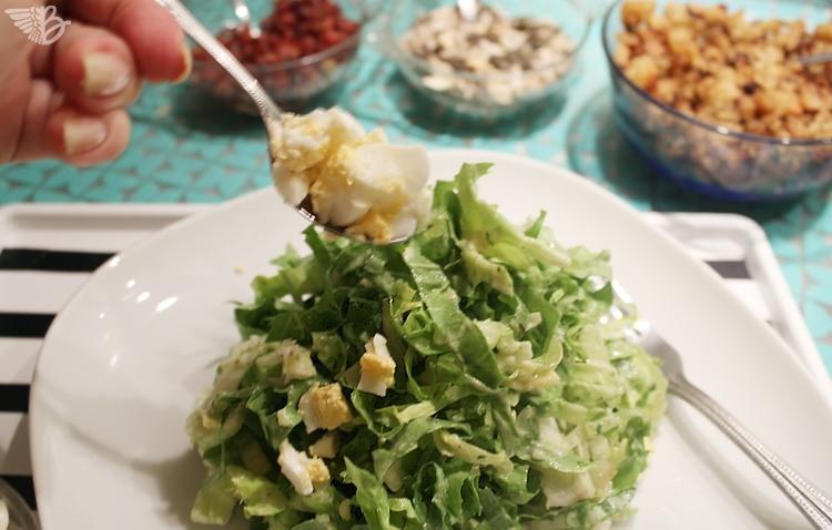 salat EDEKA Unsere heimat anrichten