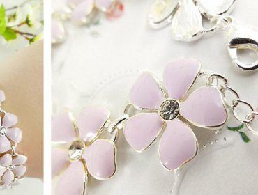 flower pastell armband