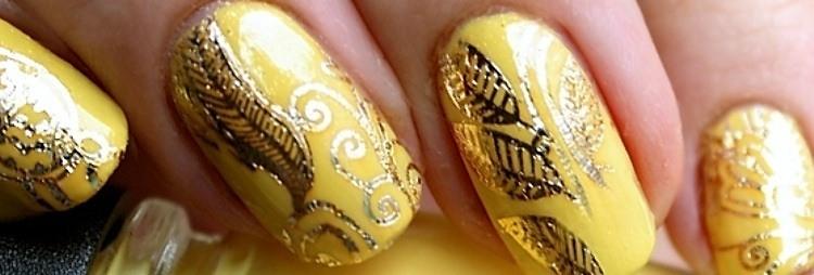 waterdecal NailArt GOLD Flashtattoo
