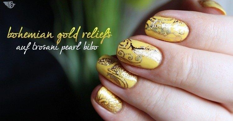 waterdecal NailArt GOLD