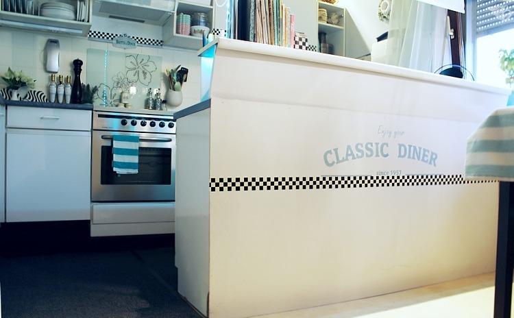 DIY: American Diner Küchen MakeOver und das passende Wandbild