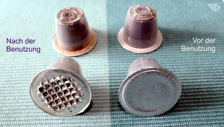 kapsel benutzt Gourmesso kaffeekapsel