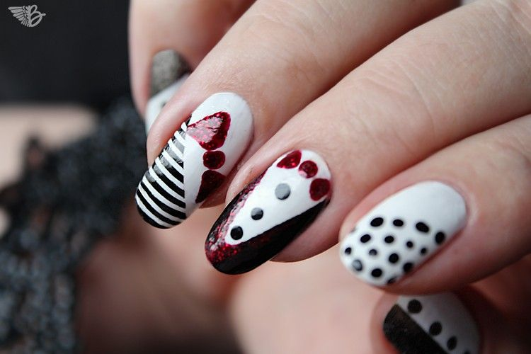 nailart-one color show suit style