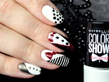 nailart-two color show suit style