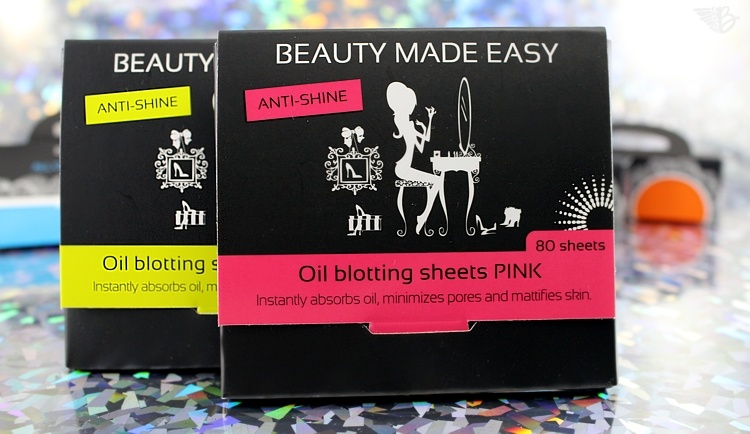 Beauty Made Easy oil blotting sheets