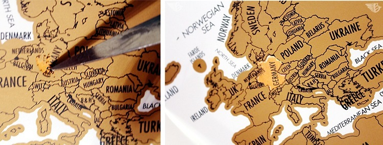 rubbeln Weltkarte