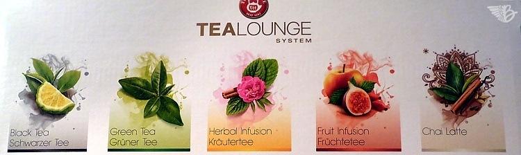 Teesorten  TEEKANNE TEALOUNGE System