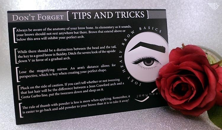 Joey Healy Brow Basics tipps