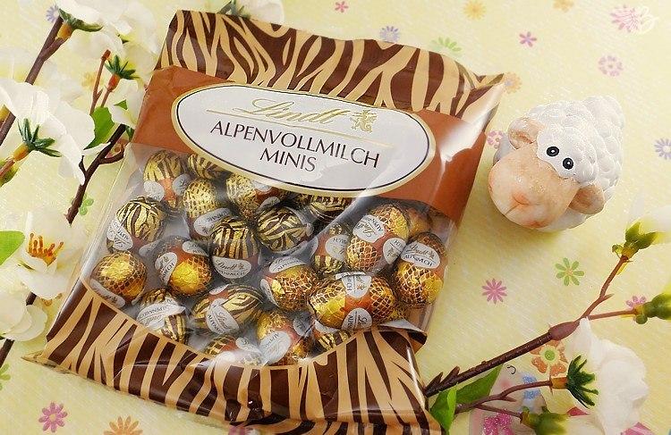 LINDT Osterhase vollmilchschokolade Minieier verpackung